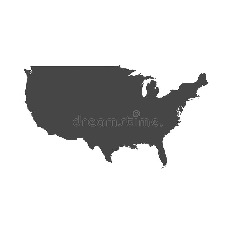 Vereinigte Staaten der amerikanischen Karte lizenzfreie abbildung