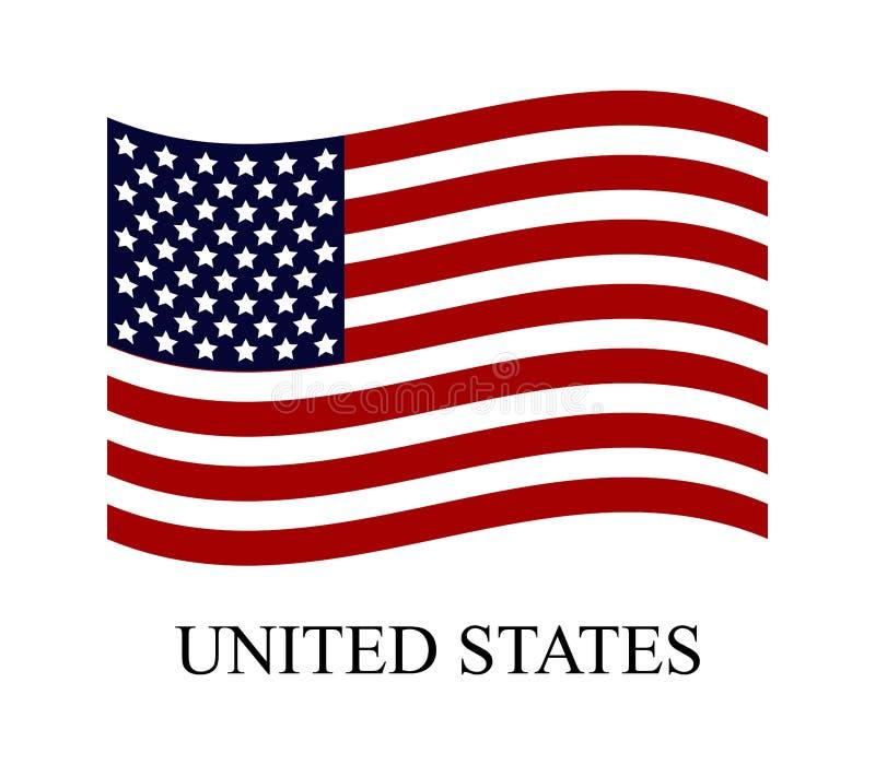 Vereinigte Staaten kennzeichnen vektor abbildung