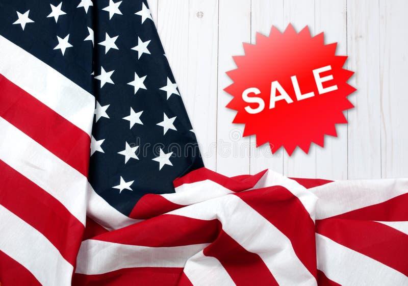 Vereinigte Staaten kennzeichnen Amerikanischer Feiertag Verkauf lizenzfreie stockbilder