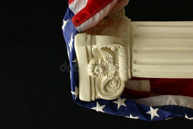Vereinigte Staaten kennzeichnen auf einem Bedienpult stockfotografie