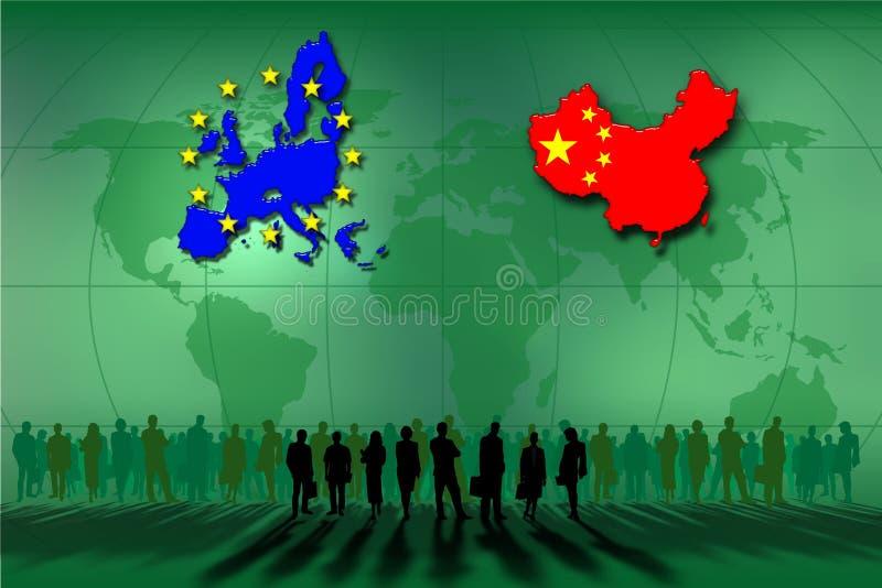 Vereinigte Staaten und China stock abbildung