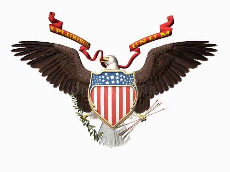 Vereinigte Staaten versiegeln, E pluribus unum. vektor abbildung