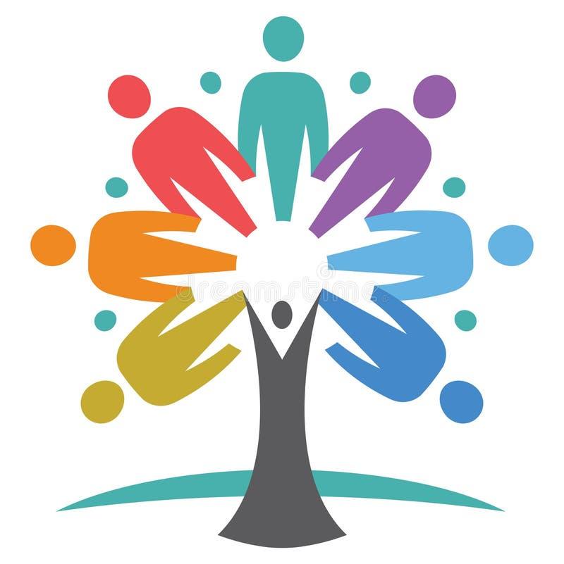 Vereinigter Leute-Baum lizenzfreie abbildung