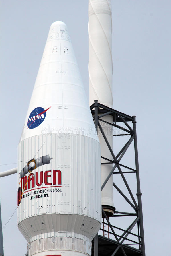 Vereinigter Produkteinführungs-Alliance-Atlas V Rocket lizenzfreies stockbild