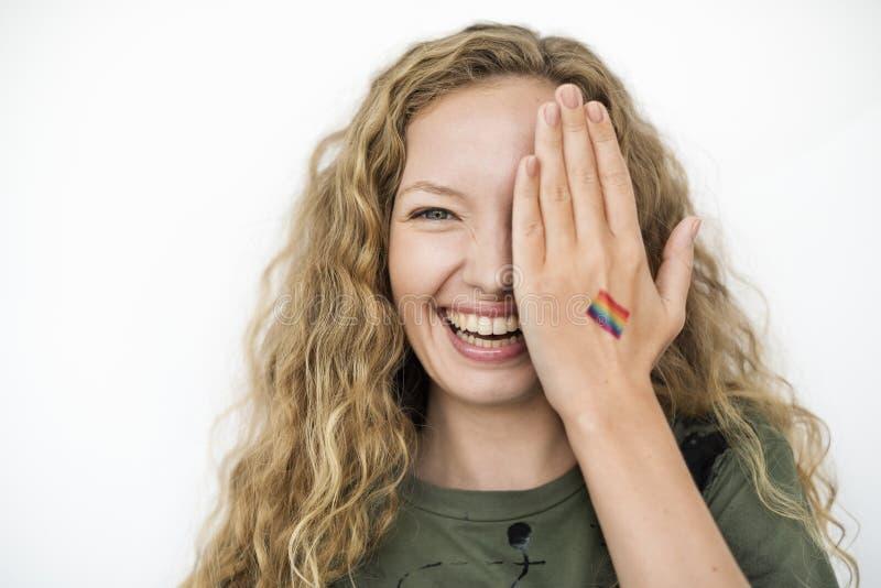 Vereinigtes Konzept LGBT lesbischer homosexueller bisexueller Transsexueller stockbilder