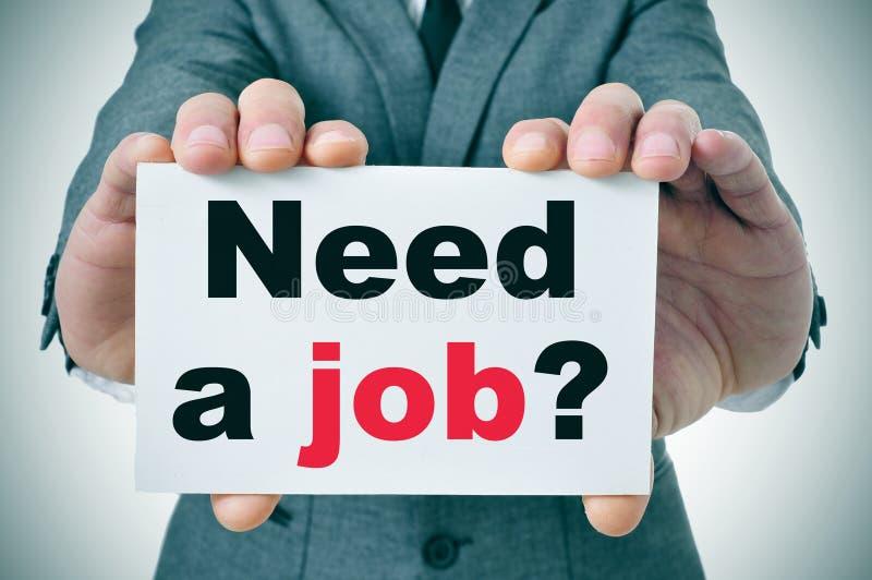 Vereis een baan? stock afbeelding