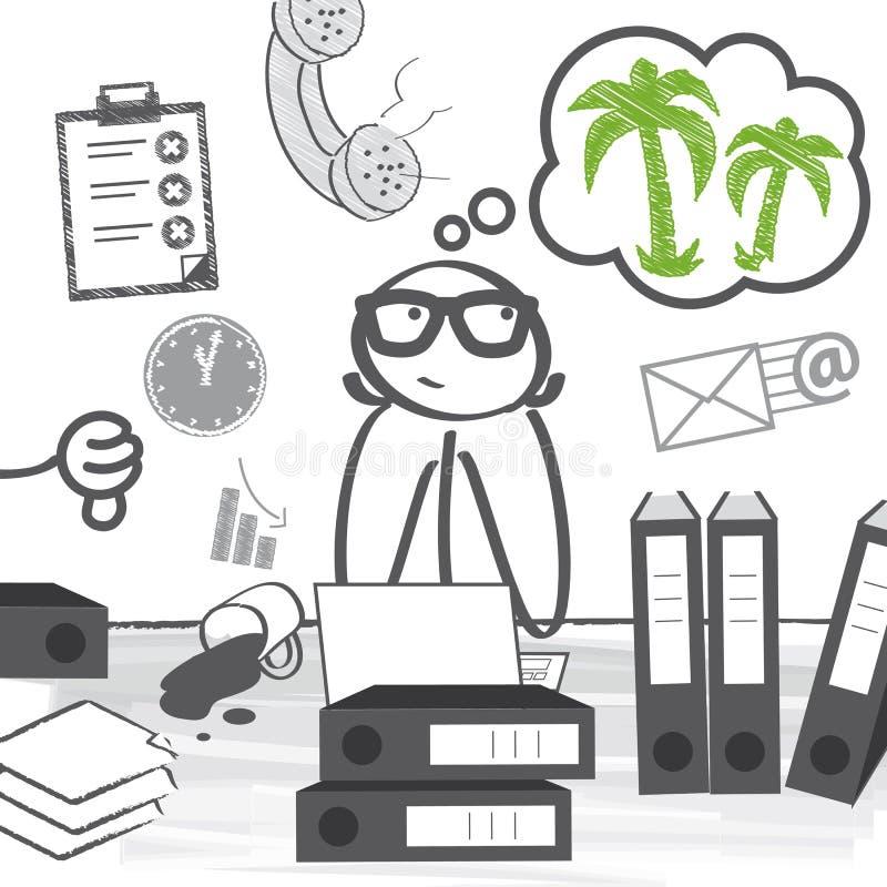 Vereis een vakantie vector illustratie