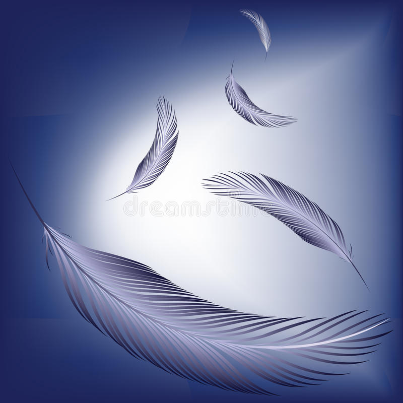 Veren in de wind royalty-vrije illustratie