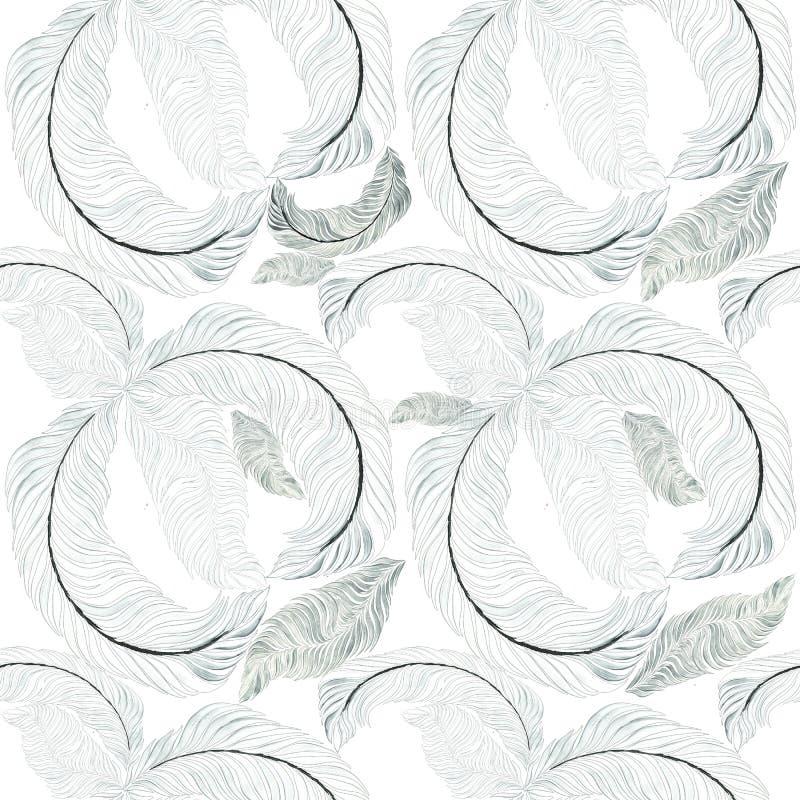 Veren - decoratieve samenstelling behang Naadloos patroon vector illustratie