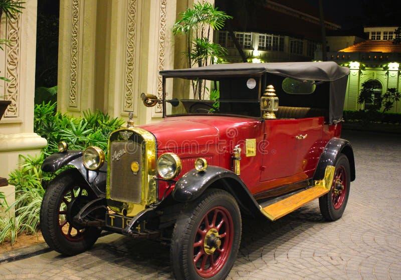 Verenigd Koninkrijk automobiel Austin 7 1920 model klassieke rode kleurenwagen royalty-vrije stock fotografie