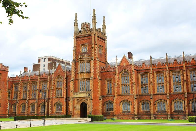 Verenigd Koninkrijk van Queens het Universitaire bouwbelfast Noord-Ierland royalty-vrije stock foto's