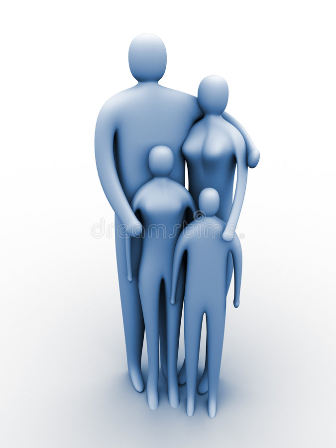 Verenigde familie stock illustratie