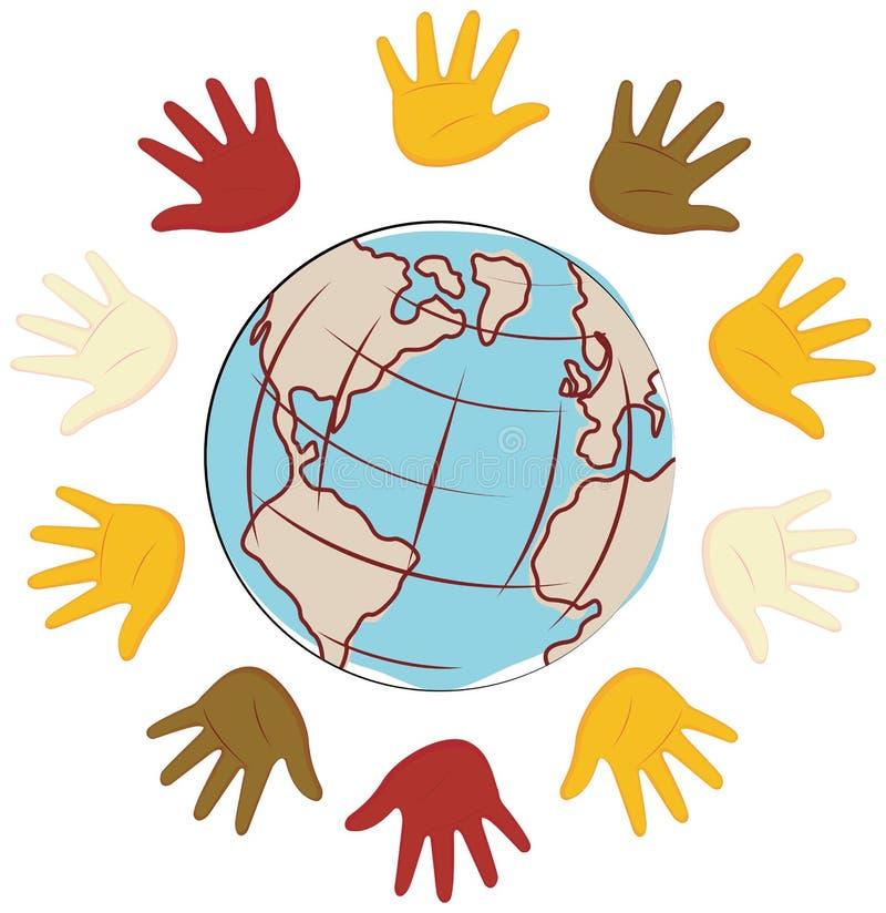 Verenigde Handen vector illustratie