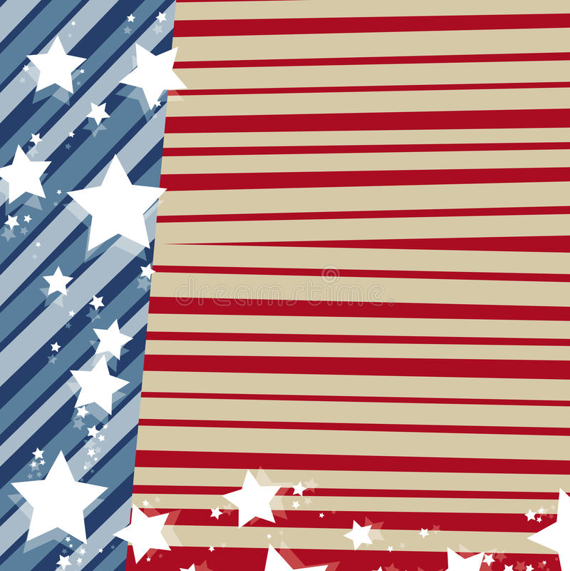 Verenigde Staat-Amerikaanse Vlag Stock Afbeeldingen