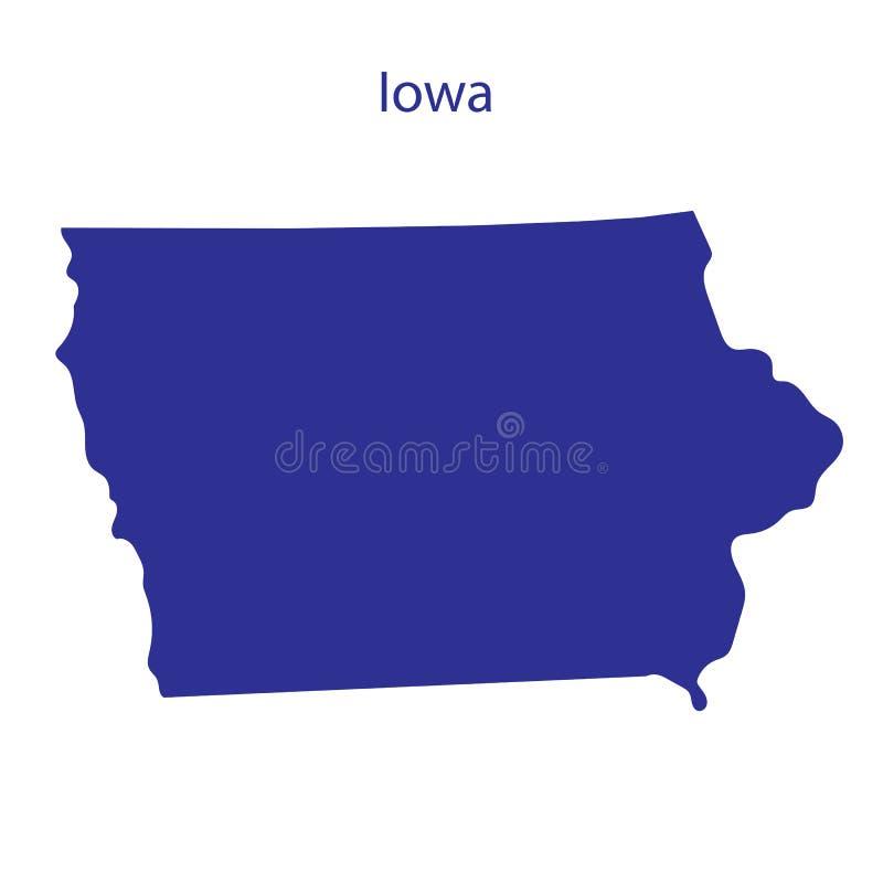 Verenigde Staten, Iowa vector illustratie