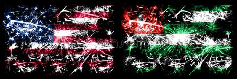 Verenigde Staten, Verenigde Staten vs Abchazië, Abchazië, Abchazië Nieuwjaarsviering van het mousserende vuurwerk - achtergrond v stock afbeeldingen