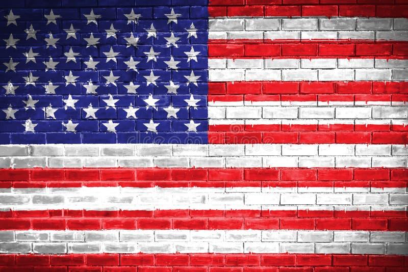 Verenigde vlag, de achtergrond van de muurtextuur stock illustratie