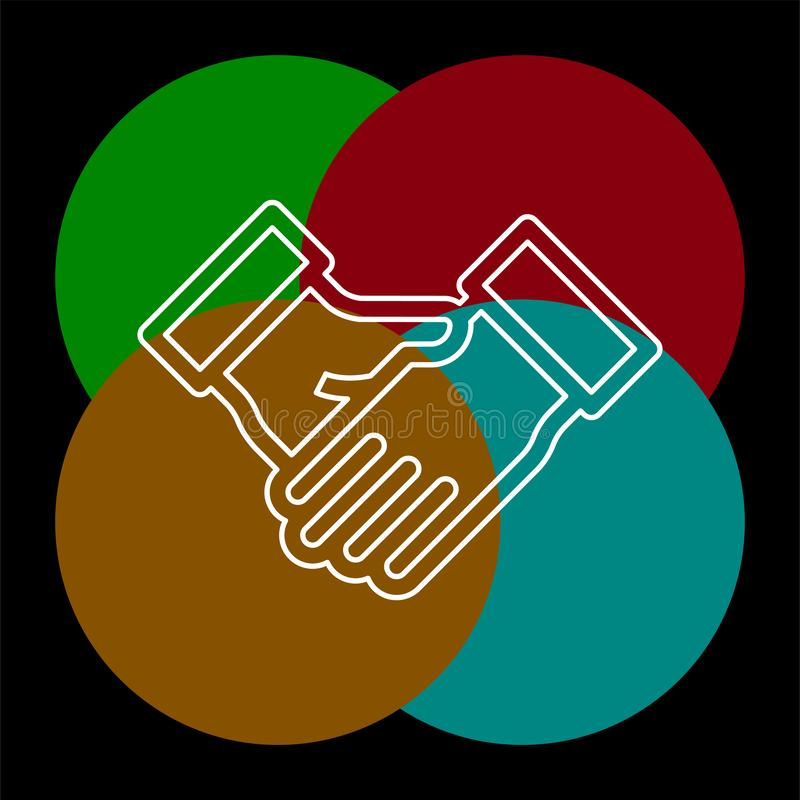 ?verenskommelse handskakningsymbol vektor illustrationer