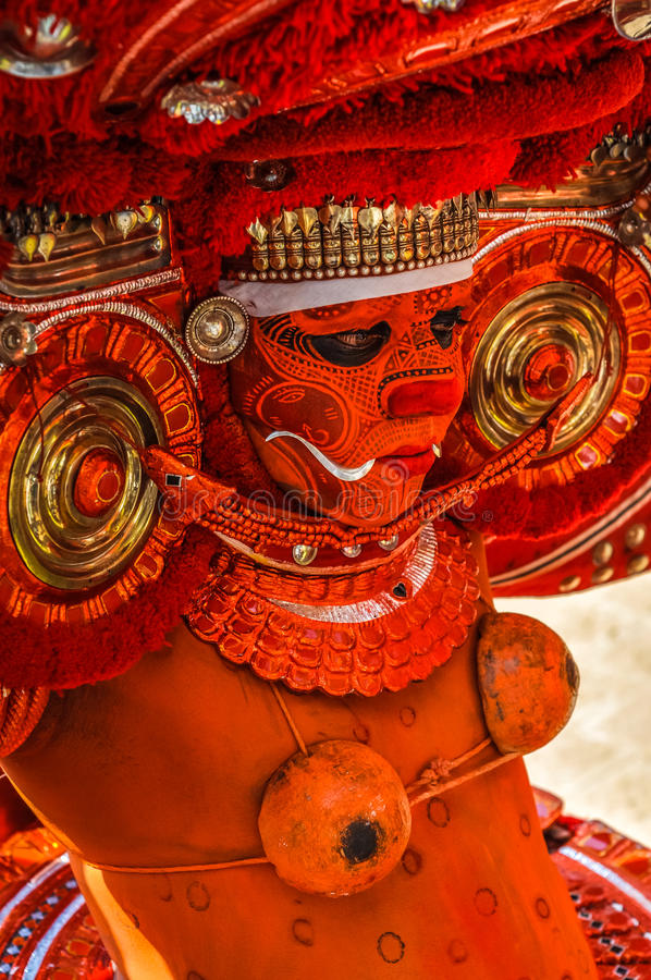 Verering van Godin Kali in Kerala stock afbeelding
