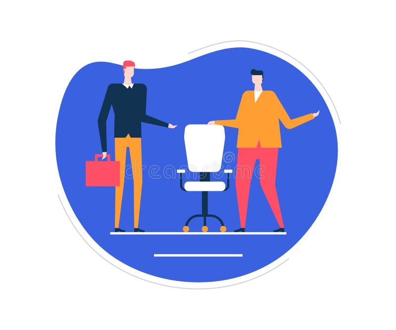 Verfügbare freie Stelle - bunte Illustration der flachen Entwurfsart stock abbildung