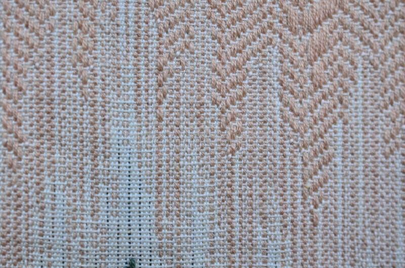 Verf geweven gekleurde textiel als achtergrond stock afbeelding