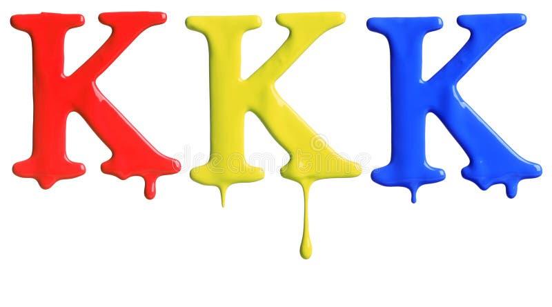 Verf het druipen alfabet stock afbeeldingen