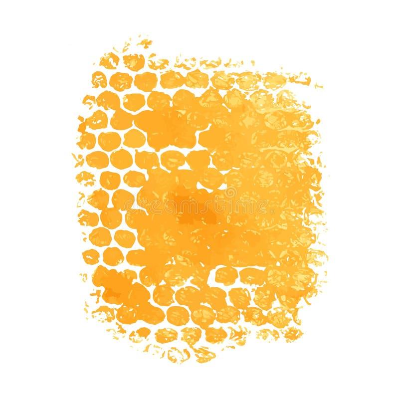 Verf, inkt, grunge, de vuile oranjegele plons van borstelslagen vector illustratie