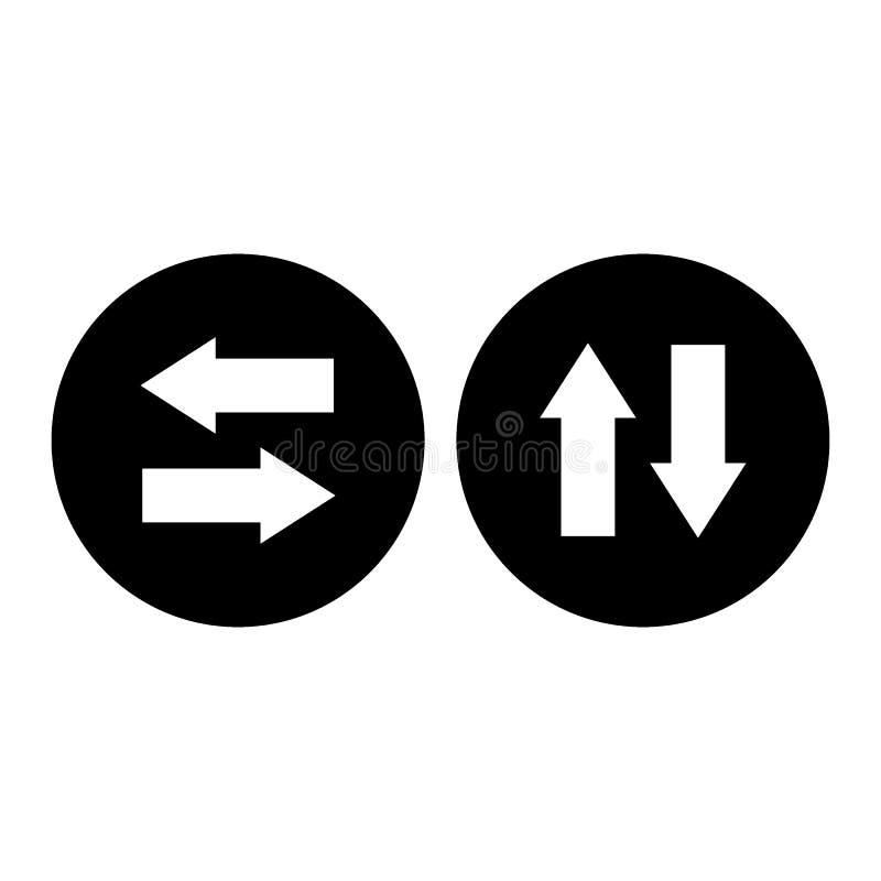 ?verf?ringssymbol Enkelt med skugga p? vit bakgrund royaltyfri illustrationer