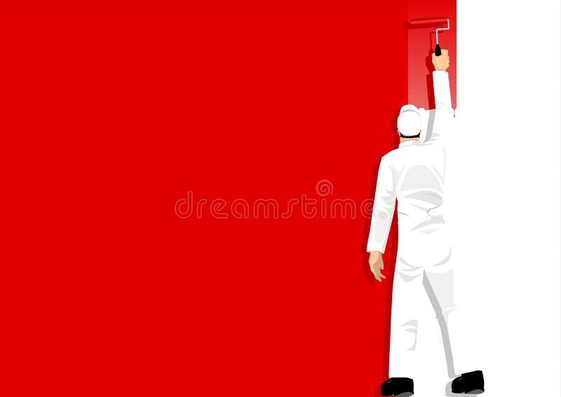 Verf Rood het royalty-vrije illustratie