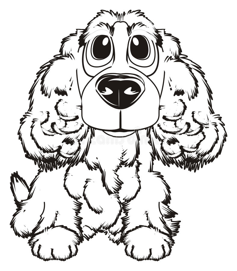 Verf van hond vector illustratie