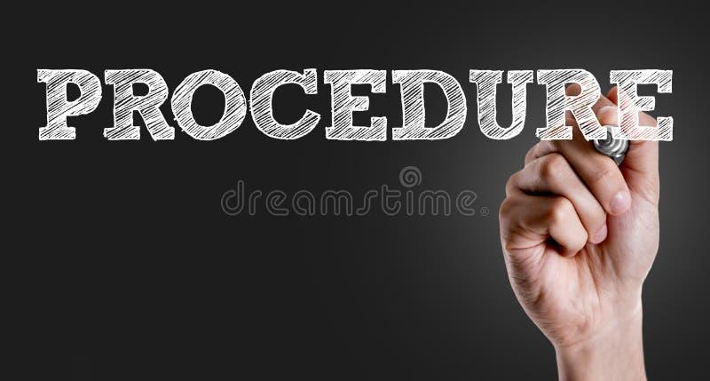 Verfahren auf einem Begriffsbild stockbilder