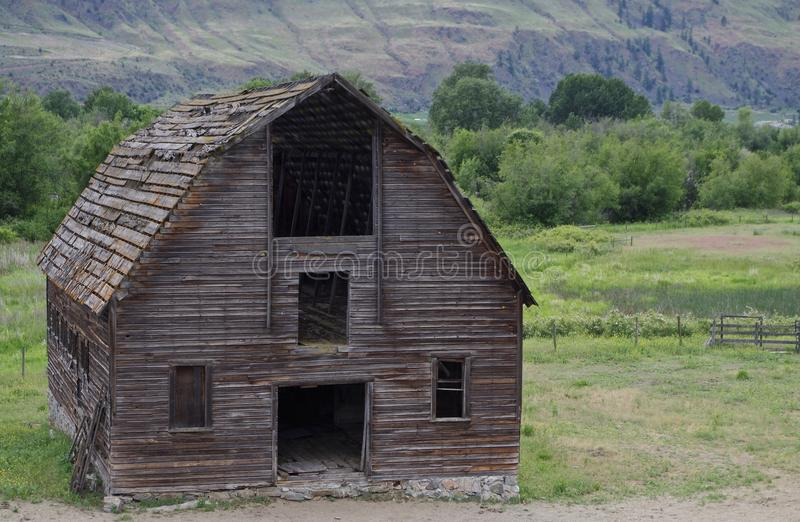 Verfallene verlassene Scheune, Osooyoos, Britisch-Columbia, Kanada stockfoto