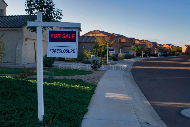 Verfallserklärung-Häuser lizenzfreie stockbilder