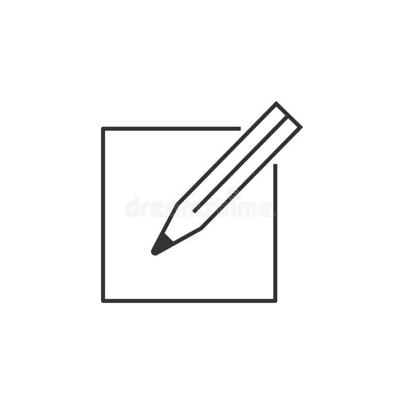 Verfassen Sie, Editierzeileikone Einfache, moderne flache Vektorillustration für bewegliche APP-, Website- oder Desktop-APP lizenzfreie abbildung
