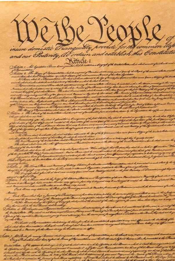 Verfassung der Vereinigten Staaten stockfoto