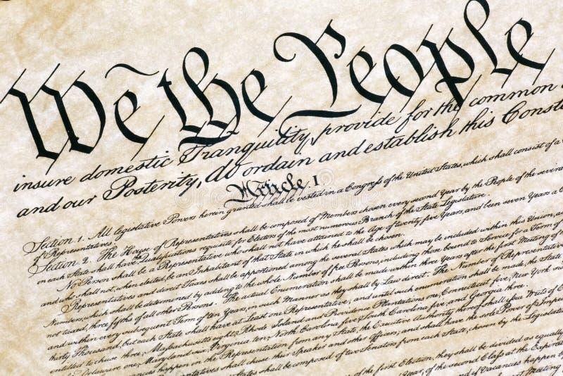 Verfassung der Vereinigten Staaten lizenzfreie stockfotos