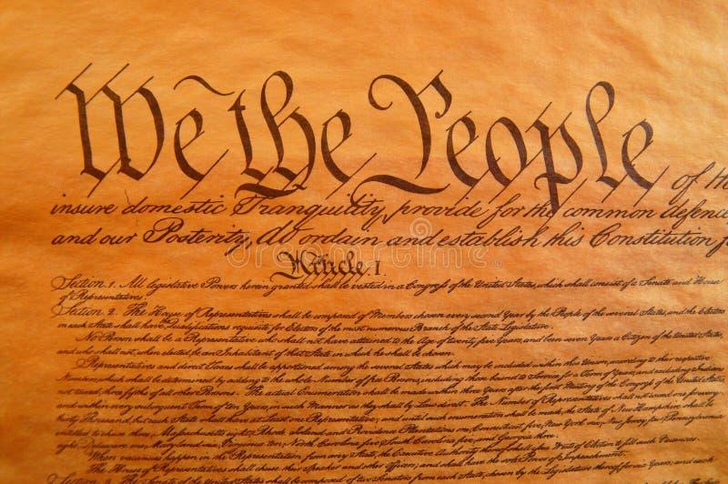 Verfassung der Vereinigten Staaten stockbild