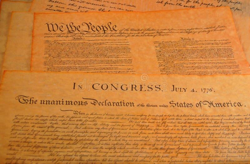Verfassung der Vereinigten Staaten lizenzfreies stockfoto