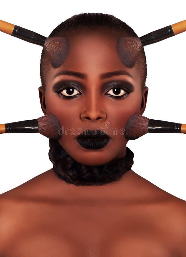 verfassung Make-upgesicht lizenzfreie stockbilder