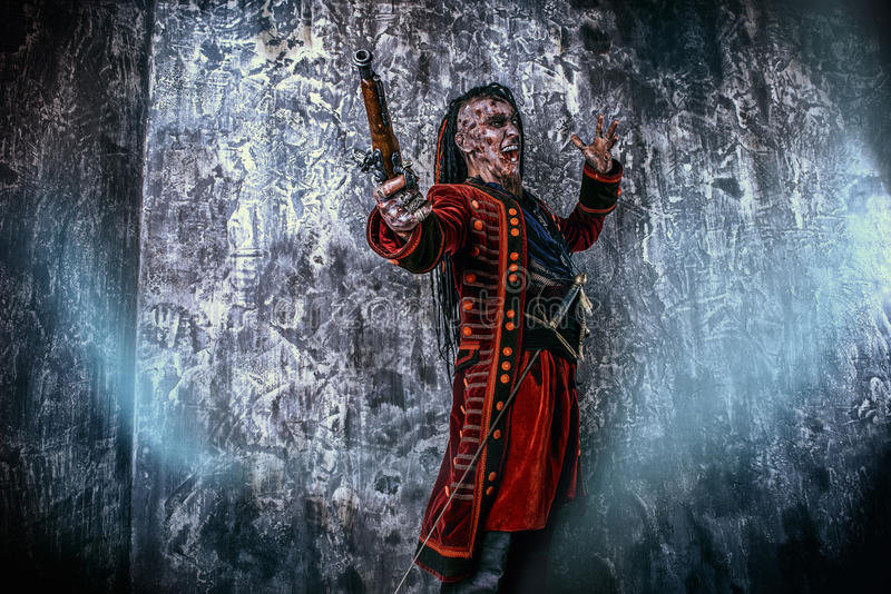 Verfluchter Pirat lizenzfreies stockfoto