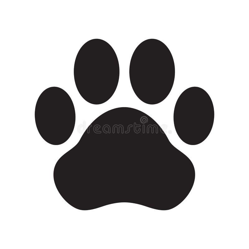 Verfolgen Sie Katzenclipart der französischen Bulldogge der Tatzenvektorikonenlogozeichentrickfilm-figur-Illustration vektor abbildung