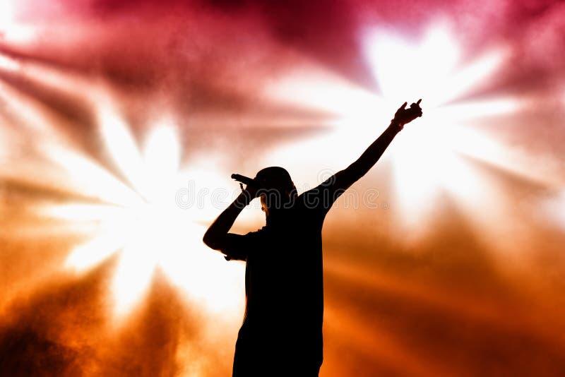 Verfolgung u. Status (britische Produktionsduoband der elektronischen Musik) führt an FLUNKEREI Festival durch lizenzfreie stockfotografie