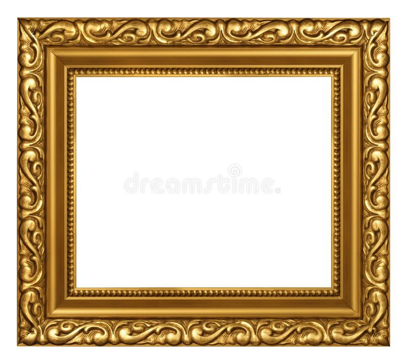 Verfraaid goud geplateerd frame stock foto