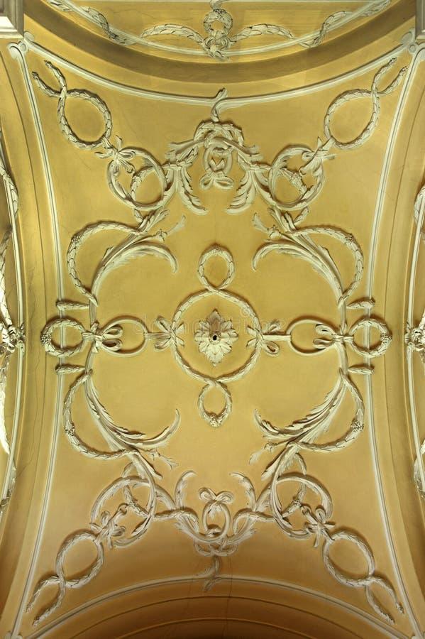Verfraaid plafond royalty-vrije stock fotografie