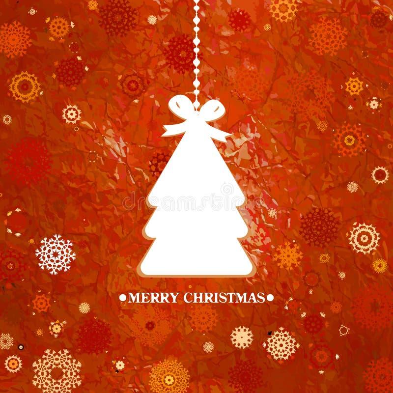 Verfraaide blauwe Kerstboom. EPS 8 stock illustratie