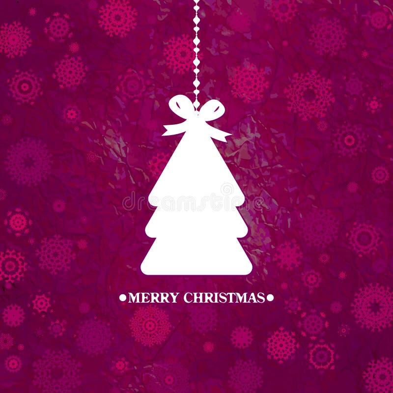 Verfraaide blauwe Kerstboom. EPS 8 vector illustratie