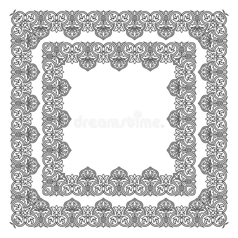 Verfraaide frame vector vector illustratie