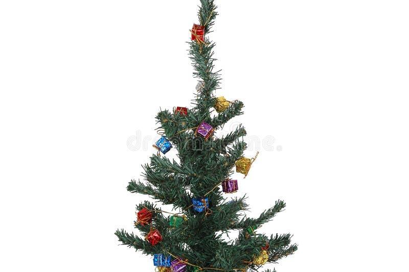 Verfraaide Kerstmisboom stock afbeelding
