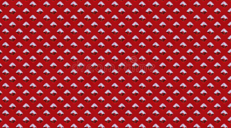 Verfraaide metaaloppervlakte Het metaal nagelt patroon vast BackgroundDecorated het samenvatting opgepoetste staal de oppervlakte vector illustratie