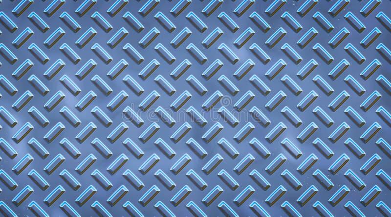 Verfraaide metaaloppervlakte Het metaal nagelt patroon vast BackgroundDecorated het samenvatting opgepoetste staal de oppervlakte royalty-vrije illustratie